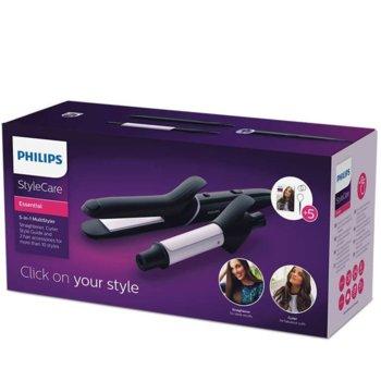 Преса за коса Philips BHH811/00, керамично покритие, технология за освобождаване OneClick 5, приставки, черна image