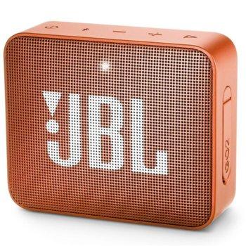 Тонколона JBL GO 2, 1.0, 3W RMS, 3.5mm jack/Bluetooth, оранжева, до 5 часа работа, IPX7 image