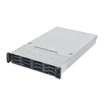 Сървър AIS 51B3/BR 48530, 2x шестядрени Haswell Intel Xeon E5-2620 v3 2.4/3.2GHz, 64GB DDR4 ECC LRDIMM, 24TB(2x 12TB SATA HDD), 2x GbE LAN, 1x GbE management, 2x USB 3.0, 1x VGA, без OS, 1x 750W image
