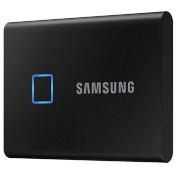 Памет SSD 500GB, Samsung T7 TOUCH, външен, USB 3.2 Type-C, скорост на четене 1050 MB/s, скорост на запис 1000 MB/s image