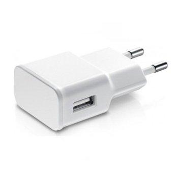 Зарядно устройство от контакт към 1 x USB А(ж), 5V / 1A 220V, бяло image