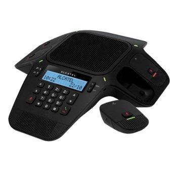Конферентен телефон Alcatel Conference 1800, 1 линия, черно-бял LCD дисплей, черен image