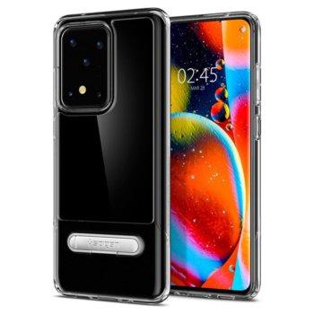 Калъф за Samsung Galaxy S20 Ultra, хибриден, Spigen Slim Armor Essential S ACS00639, удароустойчив, с поставка, прозрачен image
