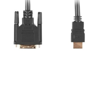 Кабел Lanberg CA-HDDV-10CC-0030-BK, от HDMI(м) към DVI-D(м), 3m, черен image