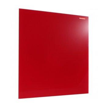 Стъклена дъска Memoboards, възможност за хоризонтален или вертиклен монтаж, размер 400x600 mm, червена image
