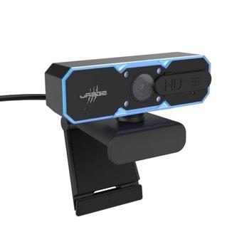 Уеб камера HAMA uRage REC 600 HD, микрофон, 1200x720 / 60 FPS, автоматичен фокус, LED осветление, USB, черна image