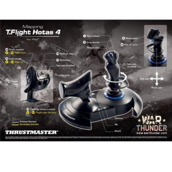 Джойстик Thrustmaster Joystick T-Flight Hotas 4, USB, черен, за PC/PS4 image