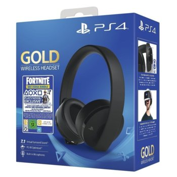 Слушалки Sony Wireless Stereo 2.0 Fortnite Neo Bundle, безжични, за PS4/PS3/PSVita, черни image