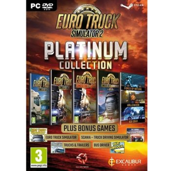 Игра Euro Truck Simulator 2 - Platinum Collection, за PC image