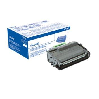 Тонер касета за Brother HL L5000/L5100/L5200/L6250/L6300/L6400/DCP L5500/L6600/ MFC L5700/L5750/L6800/L6900, Black - P№ TN3480 - Заб.: 8000 брой копия image