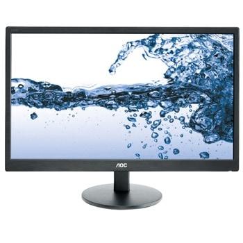 """Монитор AOC E2270SWHN, 21.5"""" (54.61 cm), TN LED, Full HD, 5ms, 20 M :1, 200cd/m2, HDMI, D-Sub image"""