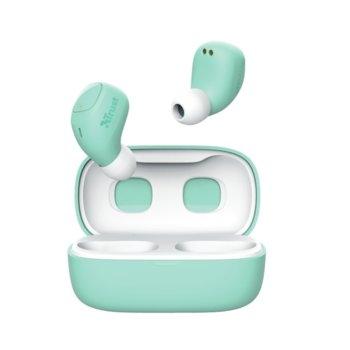 Слушалки TRUST Nika Compact, безжични, Bluetooth, микрофон, до 8 часа време на работа, зелени image