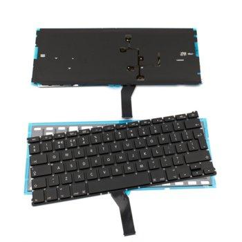 Клавиатура за Apple Macbook AIR A1369/A1466, UK, без рамка, с подсветка, черна image