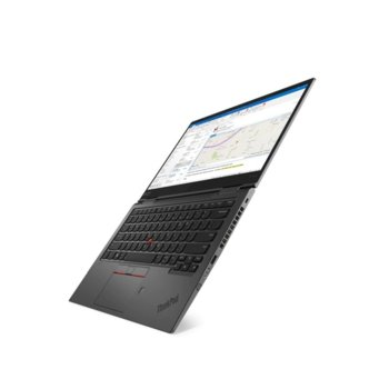 "Лаптоп Lenovo ThinkPad X1 Yoga 4 (20QF00B5BM)(сив), четириядрен Whiskey Lake Intel Core i5-8265U 1.6/3.9 GHz, 14"" (35.56 cm) Full HD IPS Anti-Glare Touchscreen Display, (HDMI), 16GB, 512GB SSD, 2 x USB-C, Windows 10 Pro, WWAN, NFC image"