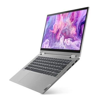 "Лаптоп Lenovo IdeaPad Flex 5 14ALC05 (82HU004JBM), четириядрен AMD Ryzen 3 5300U 2.6/3.8GHz, 14"" (35.56 cm) Full HD IPS 10-point Multi-touch Display 8GB DDR4, 512GB SSD, 1x USB Type-C, Windows 10 Home image"