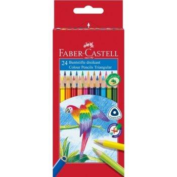 Цветен молив Faber-Castell Triangular 24 цвята product