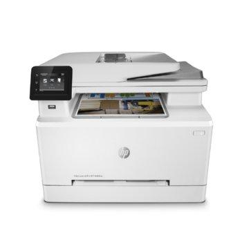 Мултифункционално лазерно устройство HP Color LaserJet Pro MFP M283fdn, цветен принтер/копир/скенер/факс, 600 x 600 dpi, 21 стр/мин, LAN, USB, A4 image