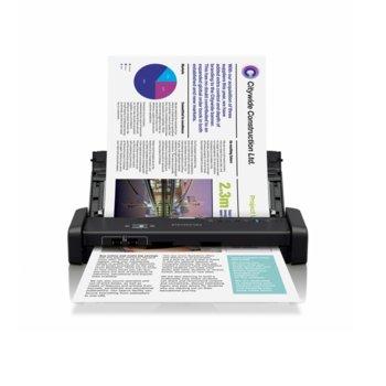 Преносим скенер Epson WorkForce DS-310, 1200 x 1200 dpi, A4, двустранно сканиране, ADF, microUSB 3.0 image