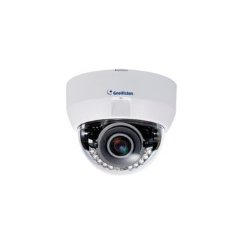 IP камера GeoVision GV-EFD2101, куполна PT камера, 2MP (1920x1080@30fps), 3–9mm обектив, H.264 и MJPEG, IR осветленост (до 50м), PoE image