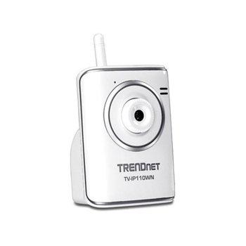 IP камера TRENDnet TV-IP110WN, 640x480@30fps, 4.6mm обектив, MJPEG, PoE, безжична, бяла image