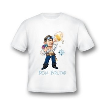 Тениска GplayTV DonBrutar, размер L, бяла image