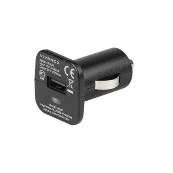Зарядно за кола Vivanco 35983, 1A, USB A(ж), 5V, черно image