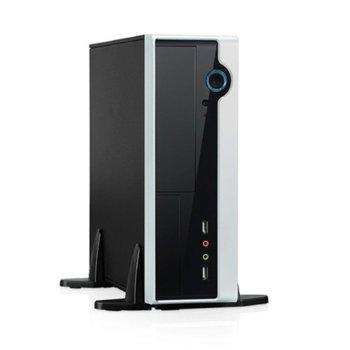 """Мини компютър Barebone Foxconn R10-D3 (BB-R10-D3), едноядрен Pineview Intel Atom D425 1.8 GHz, 2x DIMM DDR2, без твърд диск (поддържа 3.5"""" SATA2 & 3.5"""" external), Lan1000, VGA, USB 2.0 image"""