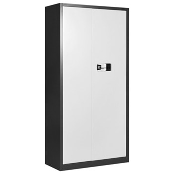 Метален шкаф RFG DZX022/RAL7016/WHITE, 2x рафтове, прахово боядисан, метален, електронно заключване, графит/бял image