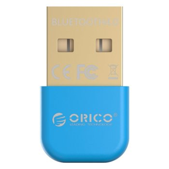 Адаптер Orico BTA-403-BL, Bluetooth 4.0, до 3Mbps, обхват до 20м, син image