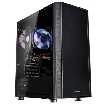Кутия Zalman R2, E ATX/ATX/Micro ATX/Mini-ITX, 1x USB 3.0, 1 RGB LED вентилатор, черна, без захранване image