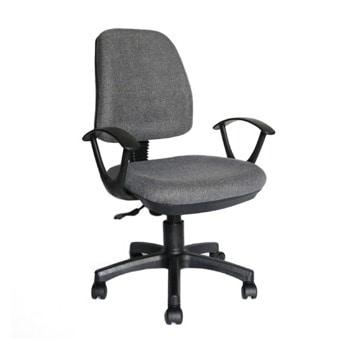Работен стол RFG Work@Smart, до 120кг, дамаска, пластмасова база, коригиране височина, заключване в позиция, сив image