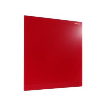 Стъклена дъска Memoboards, възможност за хоризонтален или вертиклен монтаж, размер 450x450 mm, червена image
