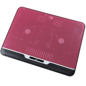 """Охлаждаща поставка за лаптоп 2088, за лаптоп до 15.6""""(39.62cm) 1x USB, розов image"""
