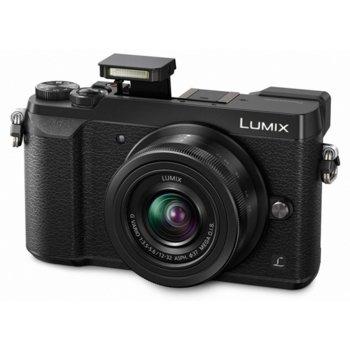 "Фотоапарат Panasonic Lumix GX80 в комплект с обективи Panasonic 12-32mm f/3.5-5.6 и Lumix G 35-100mm f/4-5.6 Mega OIS, 16 Mpix, 3.0"" (7.62cm) дисплей, Wi-Fi, USB, HDMI, SDXC слот image"