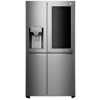 Хладилник с фризер LG GSX961NEAZ, клас F, 405 л. общ капацитет, Мулти въздушен поток, Смарт диагностика, инокс image