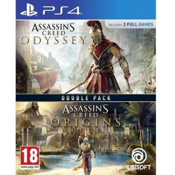 Игра за конзола Assassins Creed Odyssey + Assassins Creed Origins Double Pack, за PS4 image