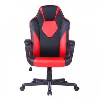 Стол Storm еко кожа черен червен product