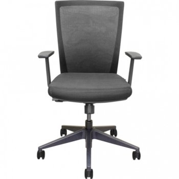 Работен стол Vaseat Morena, пластмасови подлакътници, седалка от мемори пяна, газов амортисьор, коригиране на височината, черен image