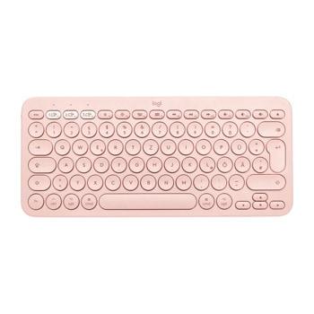 Клавиатура Logitech K380, безжична, компактна, нисък профил, розова, Bluetooth, UK English image