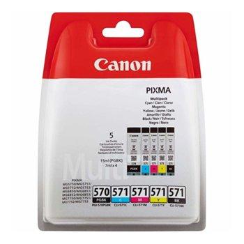Canon PGI-570PGBK END CLI-571BK/C/M/Y Multipack product