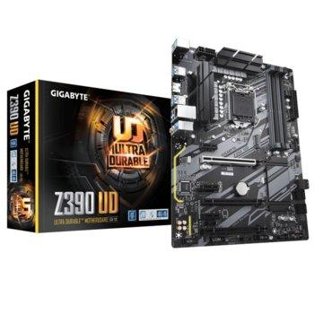 Дънна платка Gigabyte Z390 UD, Z390, 1151, DDR4, PCI-E(HDMI)(CF), 6x SATA 6Gb/s, 1x M.2, 8x USB 3.1, ATX image