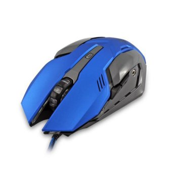 Мишка WHITE SHARK Ceasar GM-1604BL, оптична (4800 dpi), гейминг, USB 2.0, синя, 6 бутона, LED подсветка image