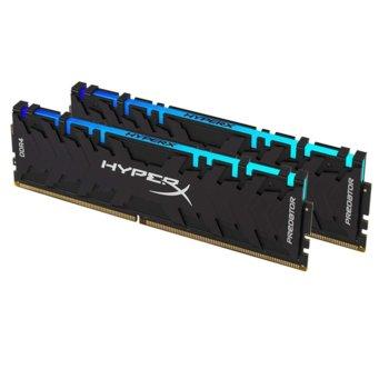 Памет 16GB DDR4 3200MHz, Kingston HyperX Predator RGB (2x8GB), HX432C16PB3AK2/16, 1.35V image