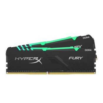 Памет 16GB(2x8GB) DDR4, 3600MHz, Kingston HyperX Fury RGB HX436C17FB3AK2-16, 1.2 V image