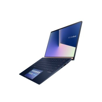 """Лаптоп Asus ZenBook 15 UX534FTC-WB501T (90NB0NK3-M07180)(син), четириядрен Comet Lake Intel Core i5-10210U 1.6/4.2 GHz, 15.6"""" (39.62 cm) Full HD Anti-Glare Display & GTX 1650 4GB, (HDMI), 8GB, 512GB SSD, 1x USB 3.1 Type-C, Windows 10 Home  image"""