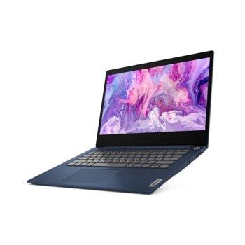 "Лаптоп Lenovo IdeaPad 3 14ARE05 (81W3003MBM)(син), шестядрен AMD Ryzen 5 4500U 2.3/4.0GHz, 14"" (35.56 cm) Full HD IPS Anti-Glare Display, (HDMI), 8GB DDR4, 256GB SSD, 2x USB 3.1, No OS  image"