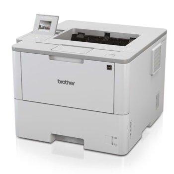 Лазерен принтер Brother HL-L6400DW, монохромен, 1200x1200dpi, 50 стр/мин, двустранен печат, Wi-Fi, Lan1000, USB, A4, 2+1 г. image