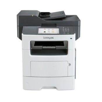 Мултифункционално лазерно устройство Lexmark MX617de, монохромен, принтер/копир/скенер/факс, 1200 x 1200 dpi, 47 стр/мин, LAN1000, USB 2.0, А4 image