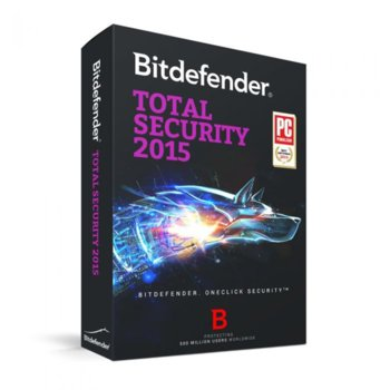 Bitdefender Total Security 2015 5PC 1Y product