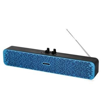 Тонколона Kisonli VS-1, 2.0, 2x5W, безжична Bluetooth, синя, работен режим до 5 часа image